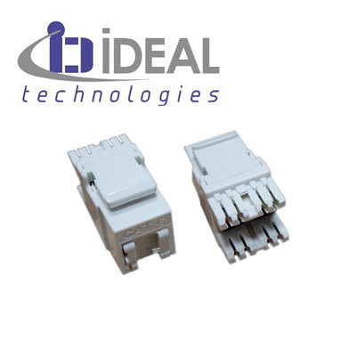 CONECTOR UTP H IDEAL CAT-6 BLANCO C/VENTANA